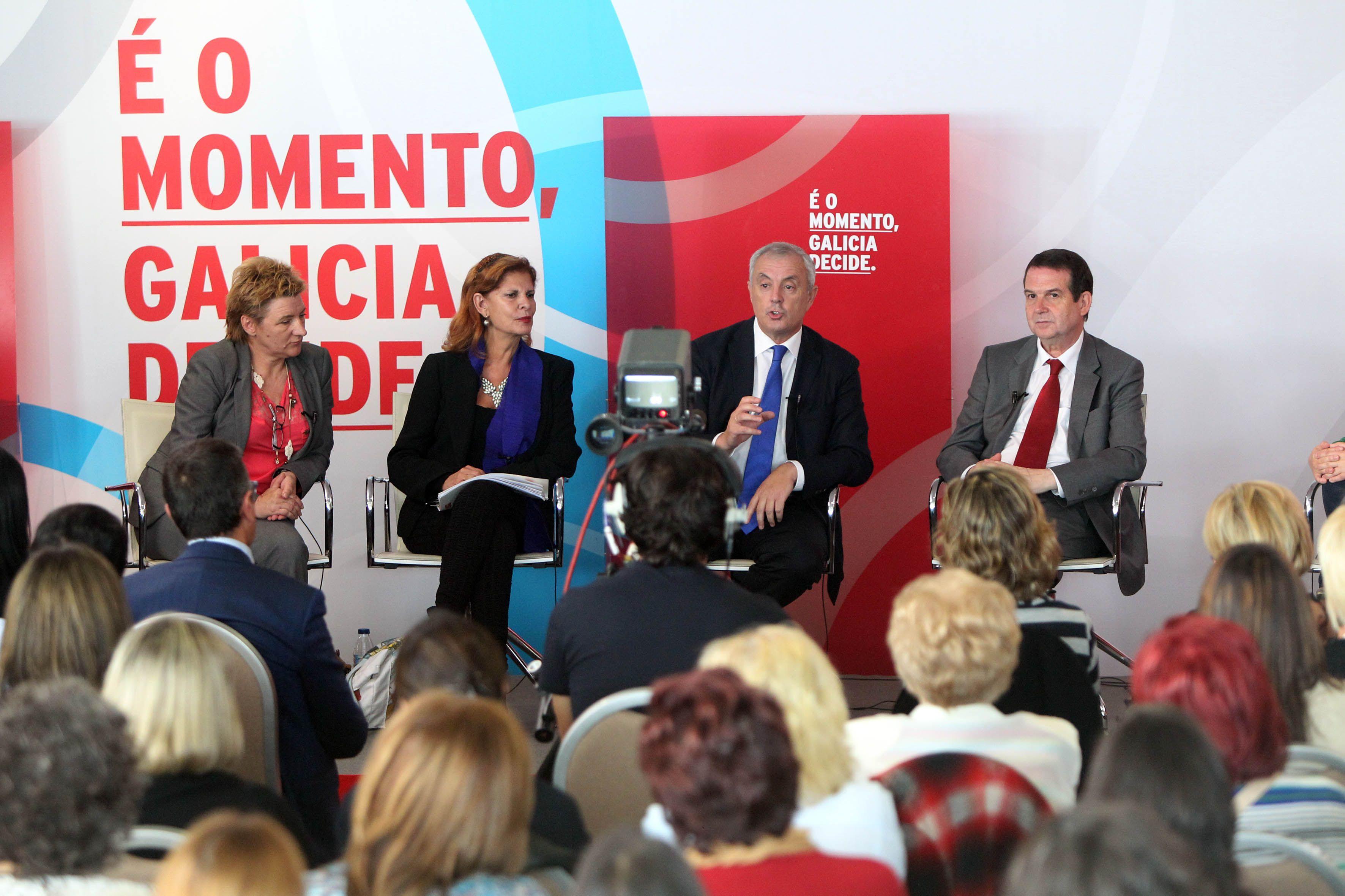 Nun acto sobre igualdade no que os socialistas galegos estivemos acompañados por Carmen Alborch.