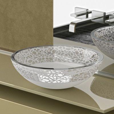 Maestro Bath Atelier Glass Circular Vessel Bathroom Sink in 2018