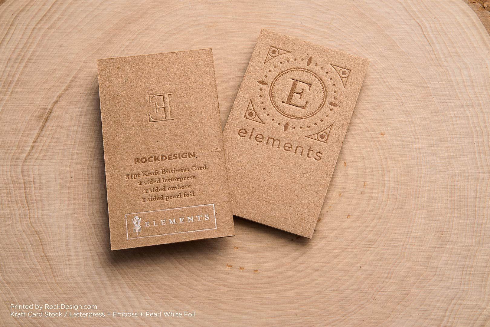 Brown Kraft Business Cards | RockDesign Luxury Business Card ...