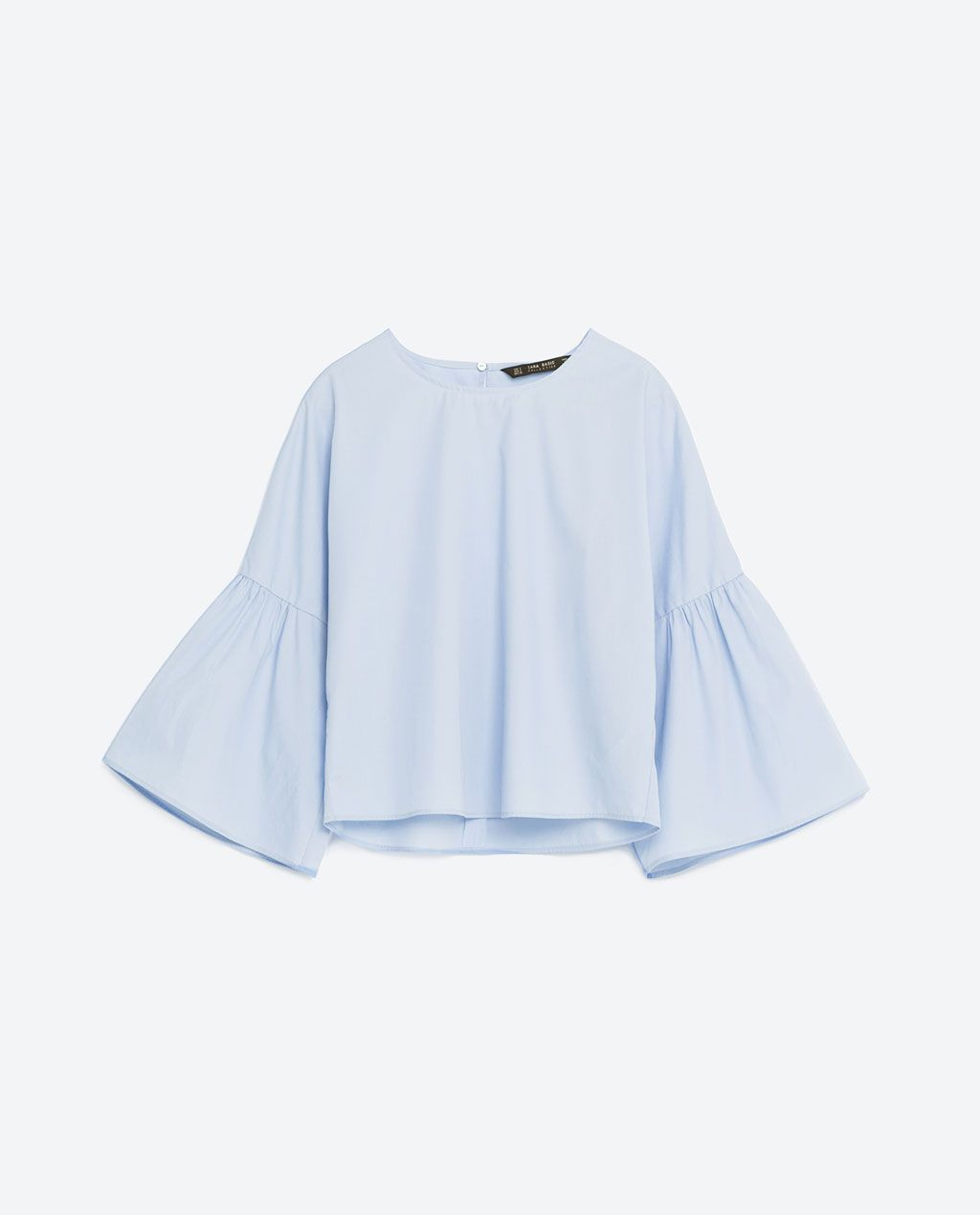 b8831f157d FRILLED SLEEVE TOP - View all-TOPS-WOMAN | ZARA Malaysia | ARCHI ...