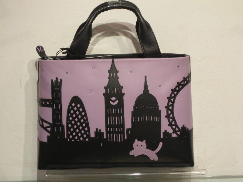 New Season Ciccia London Skyline Silhouette Leather Handbag