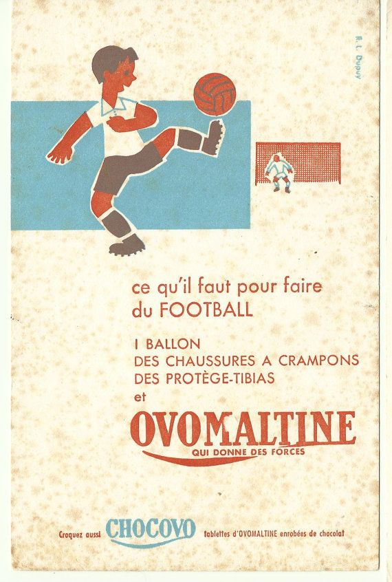 Antique french advertising poster - SPORT soccer football ...