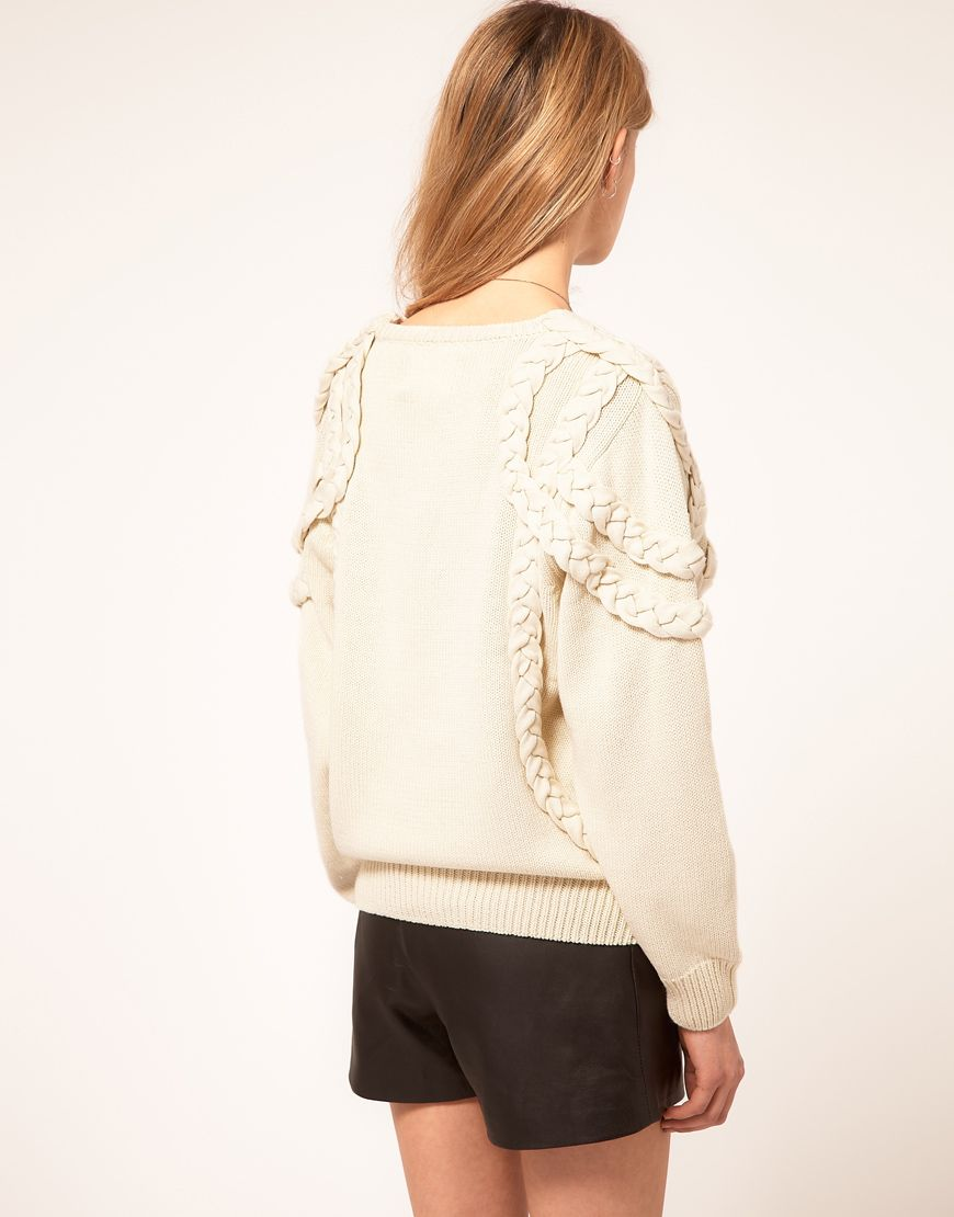 Eleven paris topy sweater with rope detail latest