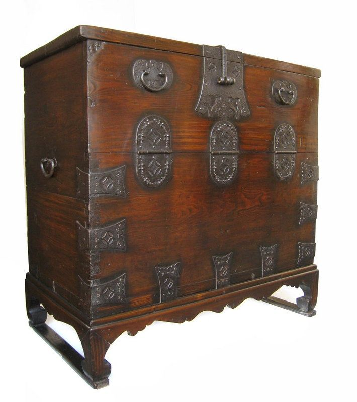 Trunks And Chests | Korean Antique Bandaji (Blanket Storage Trunk)