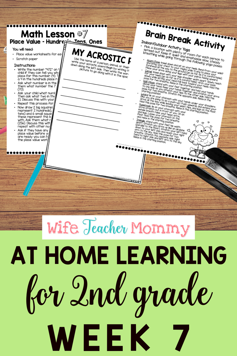 2nd Grade Distance Learning Packet At Home Learning Activities Week 7 Writing Lessons Reading Motivation Distance Learning [ 1500 x 1000 Pixel ]