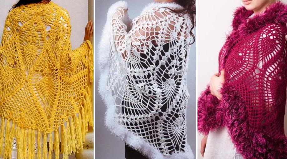 Precioso Chal semicírculo en Crochet con Patrones | Věci, které chci ...