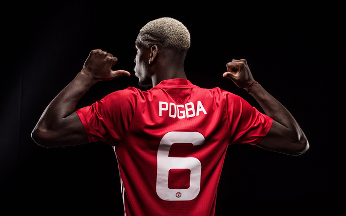 Download Wallpapers Paul Pogba 4k Manchester United