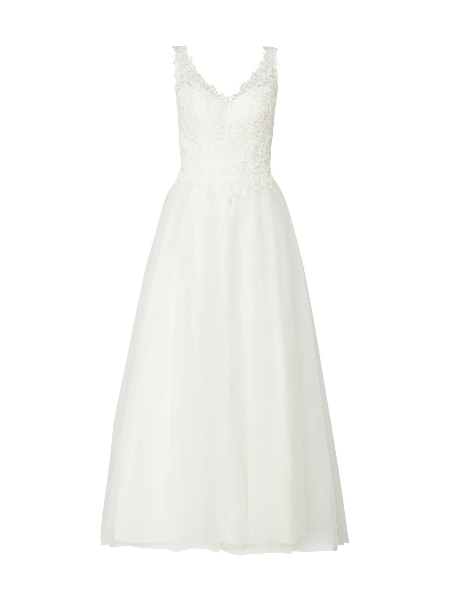 Luxuar – Brautkleid mit floralen Stickereien – Offwhite (mit