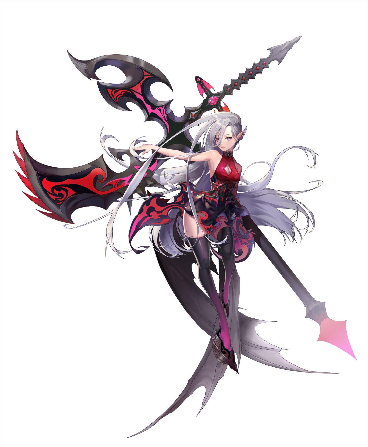 ArtStation Scythe, peka Ashuka Anime warrior, Fantasy
