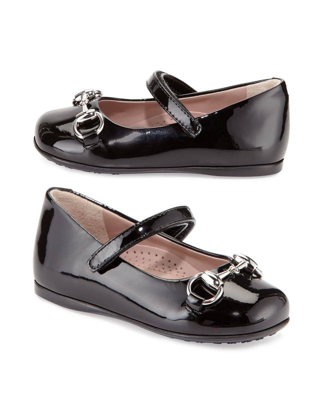 11c882418f Gucci Lillian Patent-Leather Mary Jane Flat