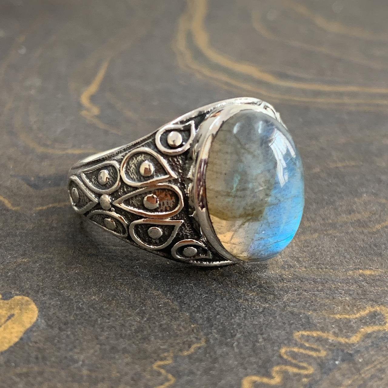 Labradorite ring-silver ring-gemstone ring-handmade ring for men and women-beautiful ring