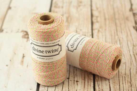 240yds SPOOL WATERMELON Divine Twine 4-ply cotton bakers twine string