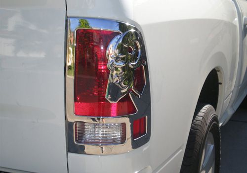 Dodge Ram Accessory V Tech Dodge Ram Chrome Big Horn 3 D Tail Light Covers Tail Lights Covers Light Covers Tail Light
