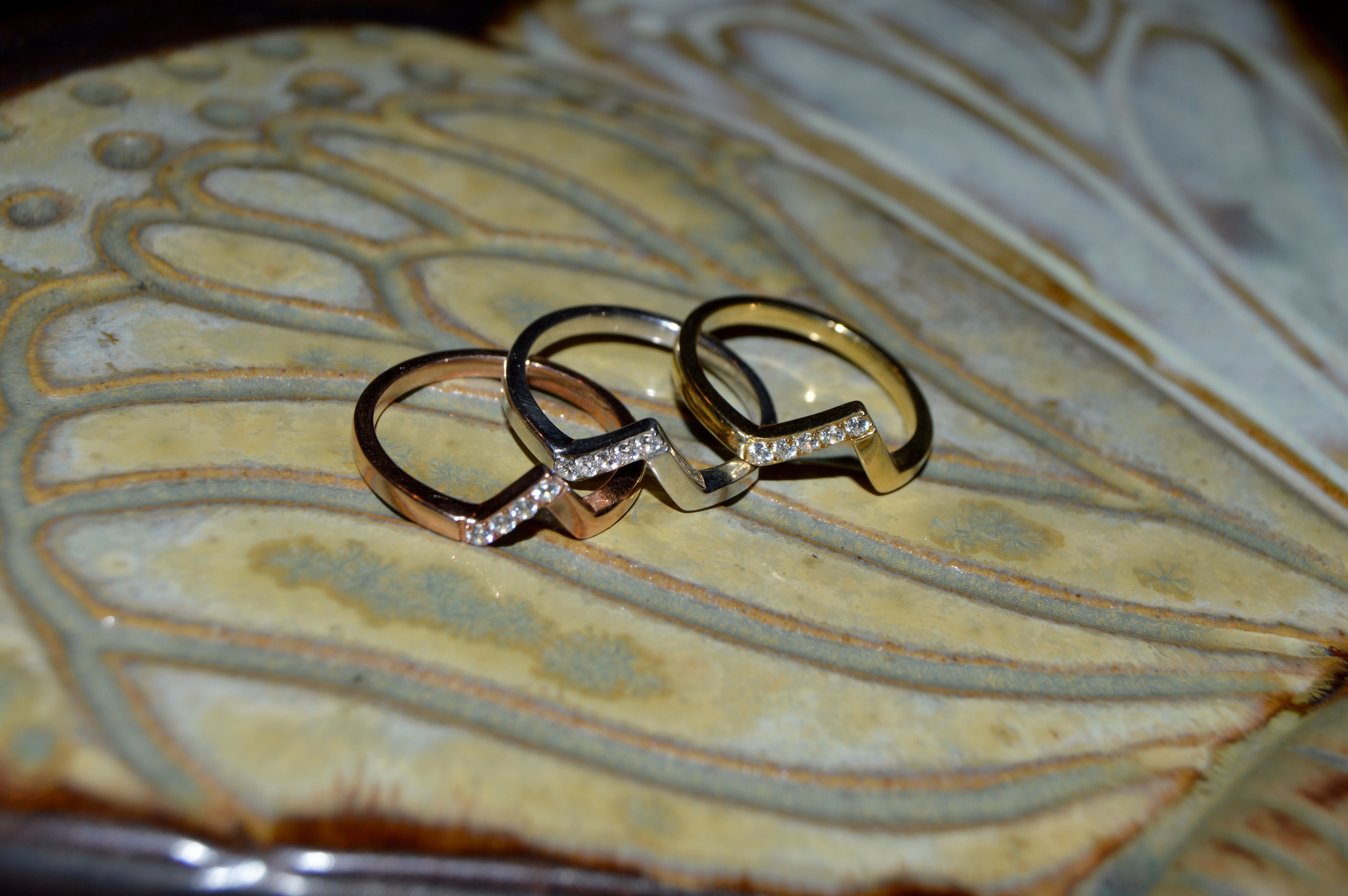 We're obsessing over our Aegis Stackable Gold and Diamond Ring!