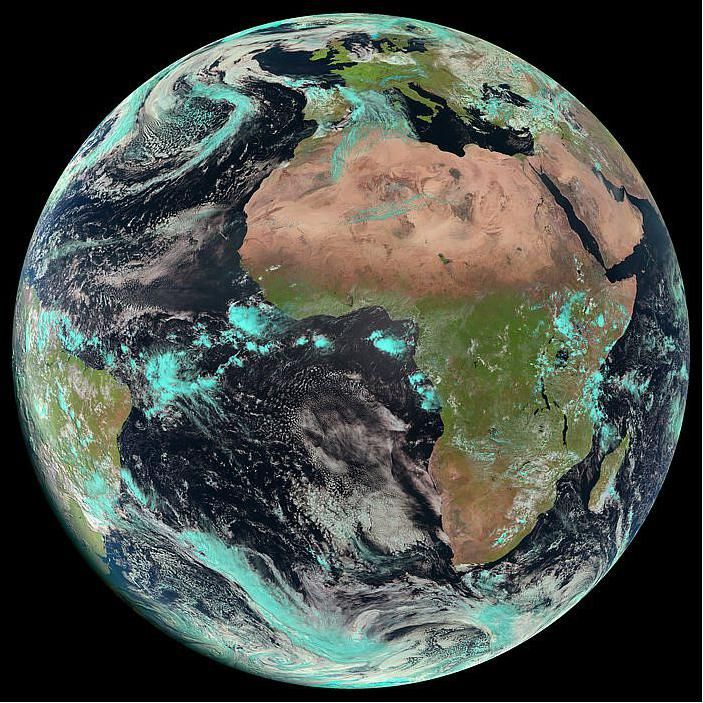 Meteosat Captured This Image Of Earth On April With Its - Current satellite photos