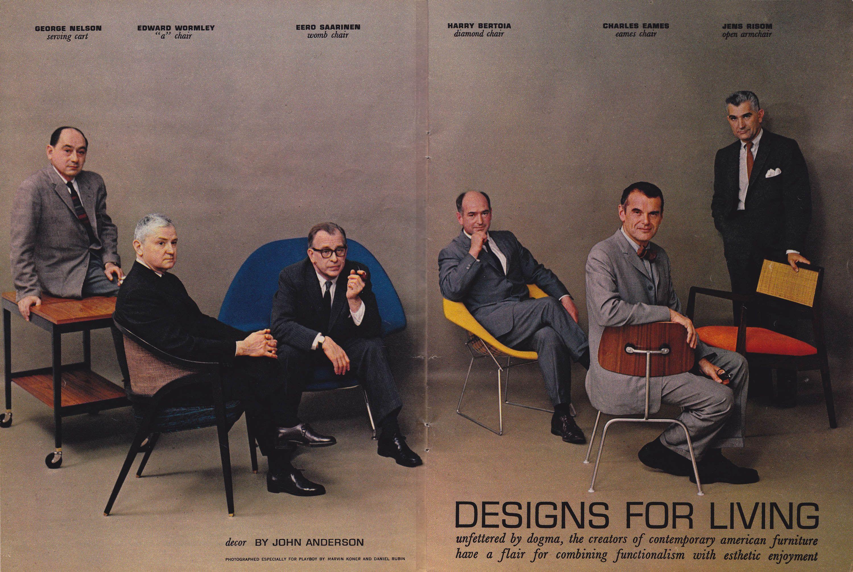 Amazing Mid Century Modern Furniture Designers In Playboy July 1961