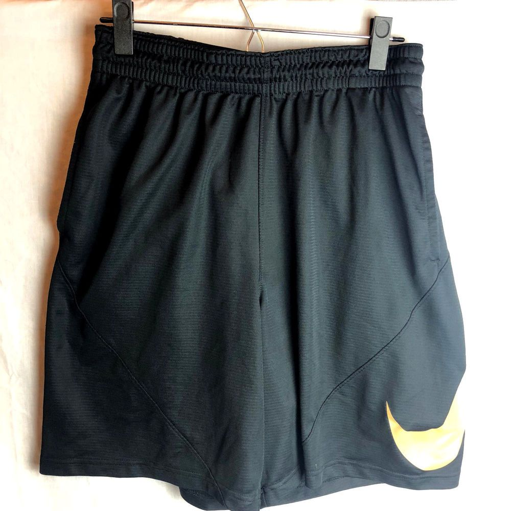 Nike Dri Fit Basketball Shorts Xl Black Gold Pockets Nike Activewearshorts Basketball Shorts Under Armour Outfits Active Wear Shorts