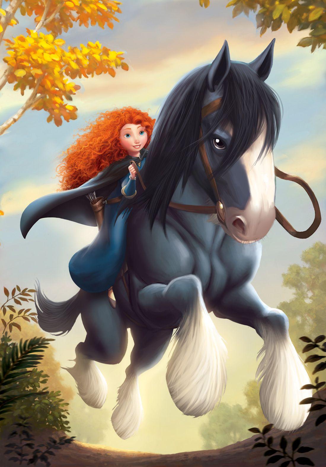 Merida and her Scottish horse, Angus