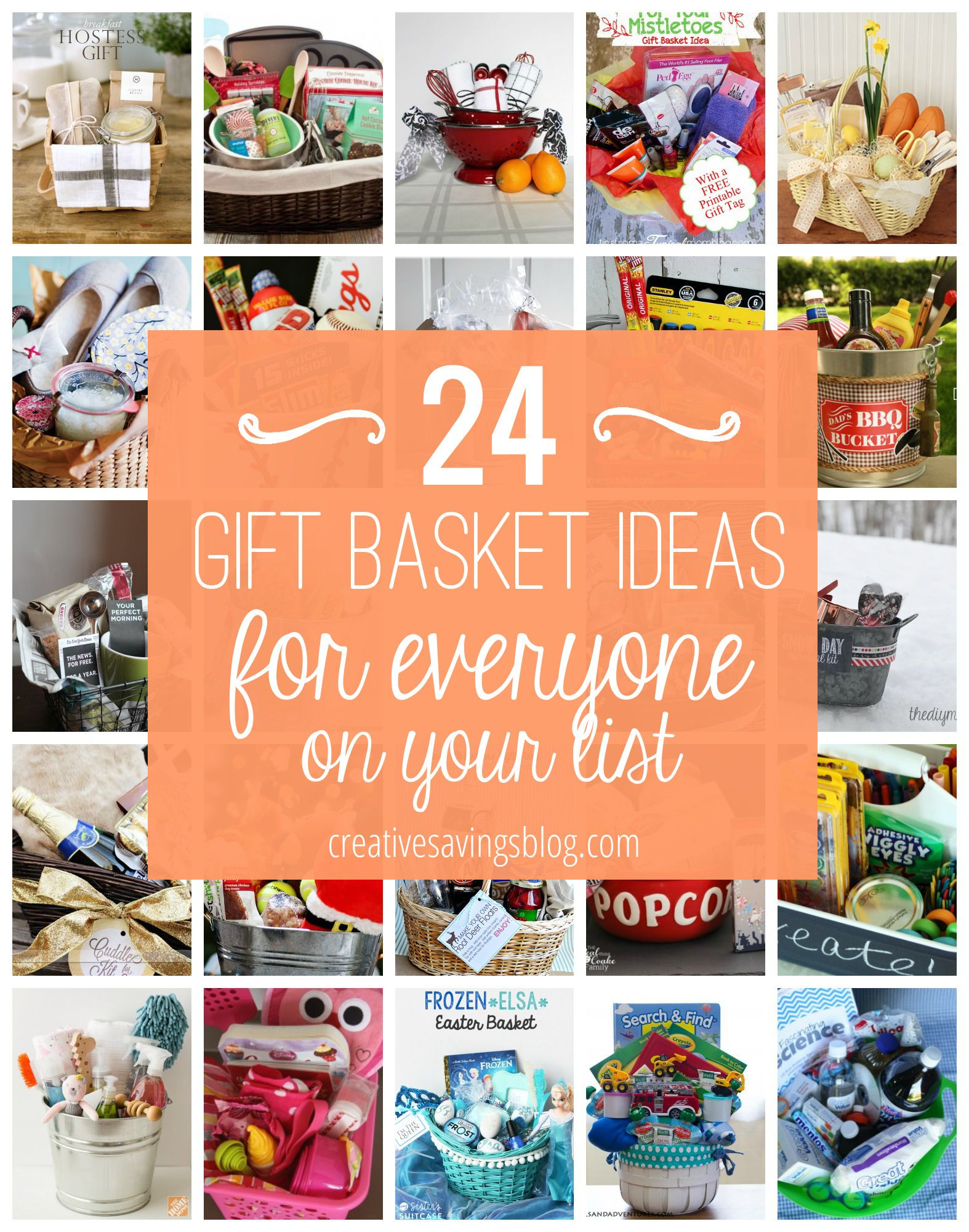 Diy gift basket ideas for everyone on your list basket ideas diy gift basket ideas for everyone on your list negle Images