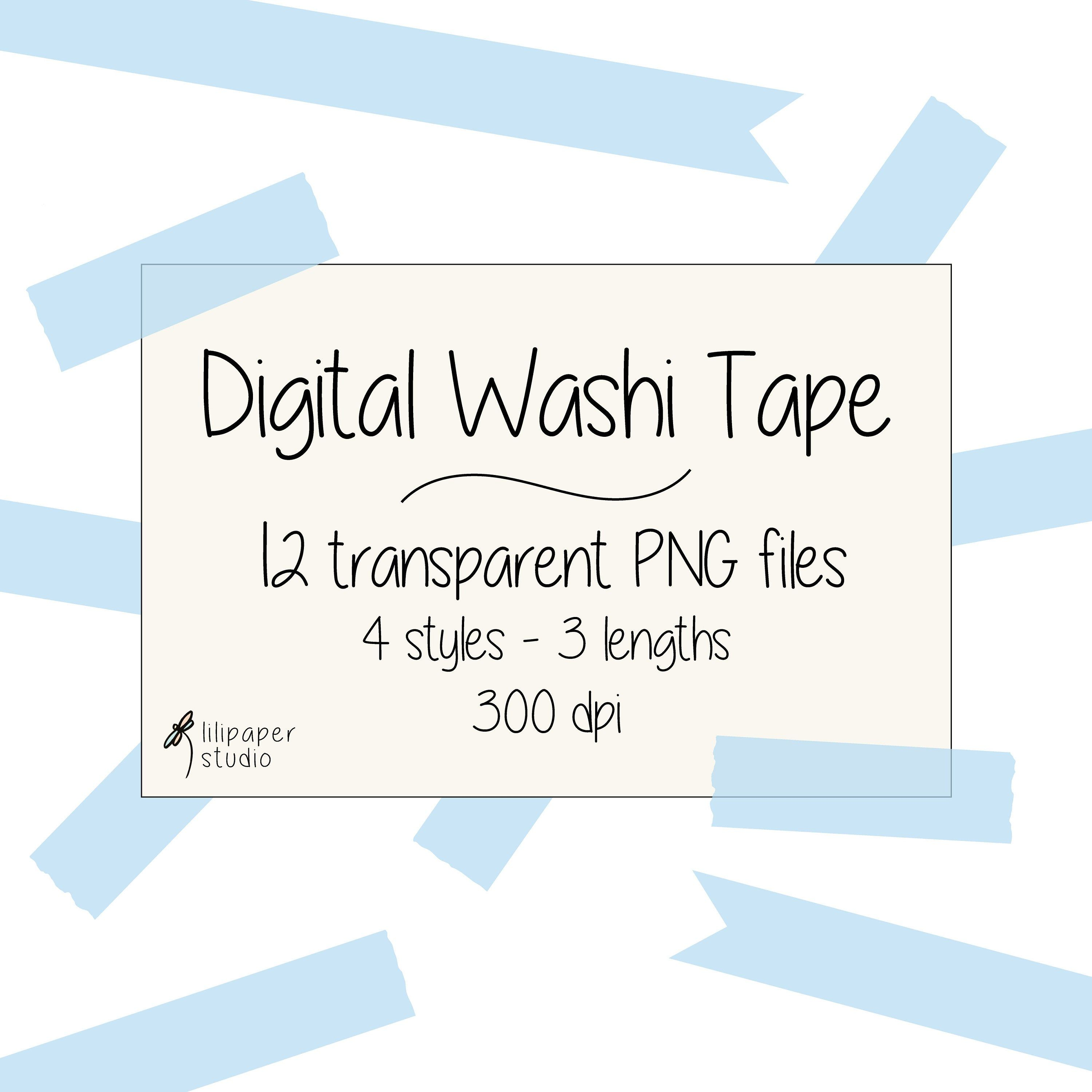 Blue Washi Tape Cliparts 12 Transparent Png Files Blue Digital Washi Tape Digital Download Free Commercial Use 4 Styles 3 Lengths Pink Scrapbook Paper Washi Tape Washi