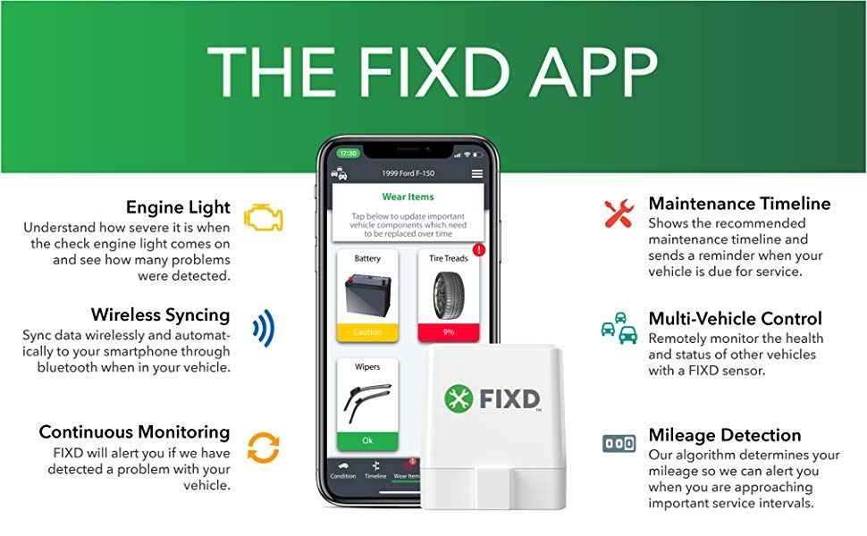 The FIXD App Obd2, Car diagnostic tool, Car bluetooth
