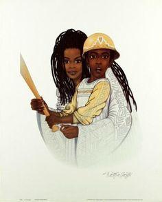 Love Art, Black Artworks, Ebony Art, African American Art, Afrocentric Art, Fine Art, Body Art, African Art, Beautiful Art