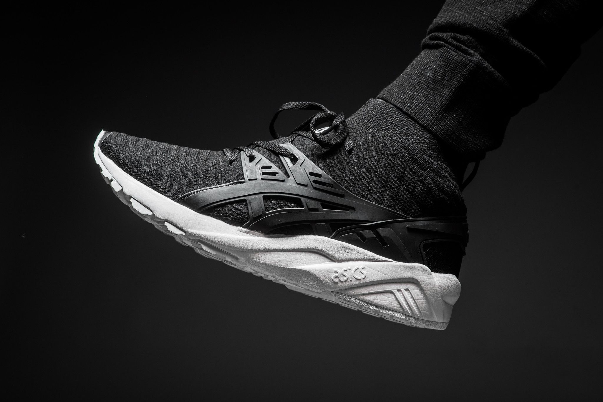 Exceptional Asics Tiger Black White Mens Gel Kayano Trainer