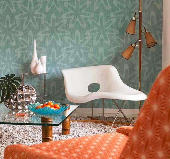 Astounding Peach Palm Springs Mid Century Modern Living Room Vintage Download Free Architecture Designs Remcamadebymaigaardcom