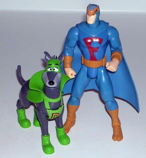 Blue Falcon And Dynomutt Marvel Action Figures Hanna Barbera Cartoons Childhood Toys