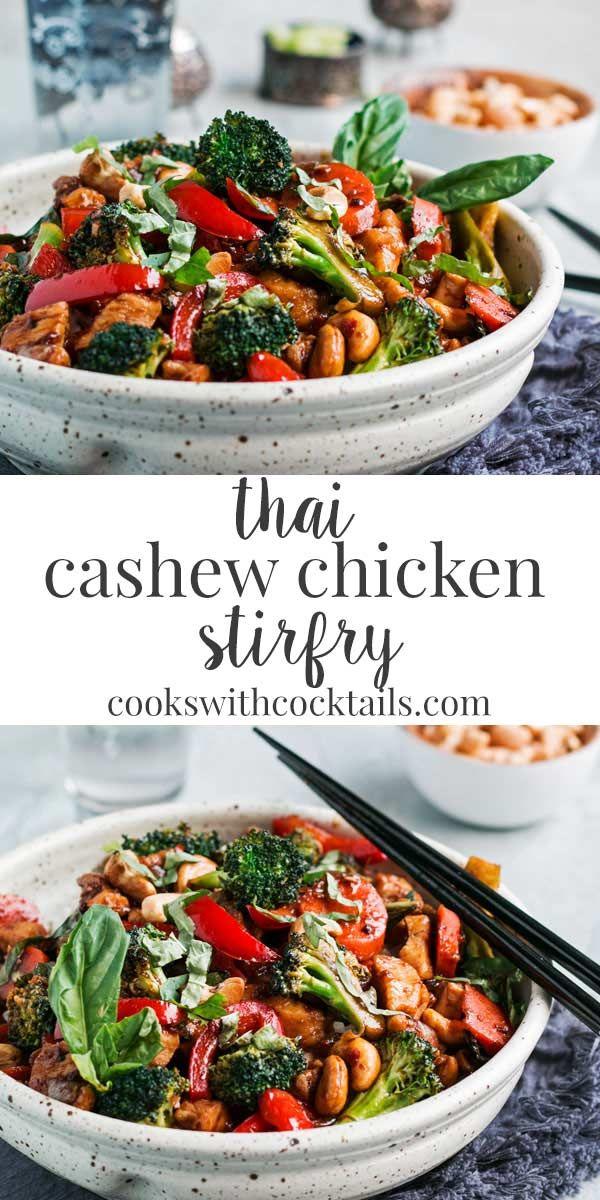 Thai Cashew Chicken Stir Fry with Basil