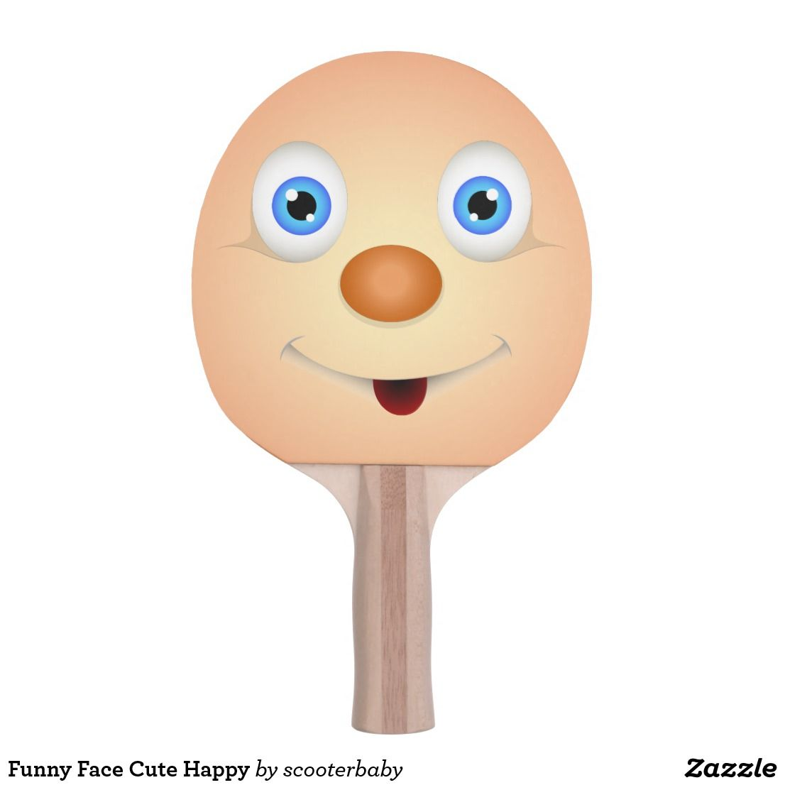 Funny Face Cute Happy Ping Pong Paddle Ping Pong Ping Pong Paddles Ping Pong Table Tennis