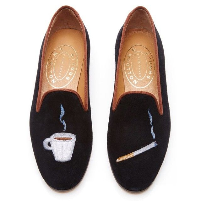 Cigarette And Coffee House Slippers Want S L I P P E R By