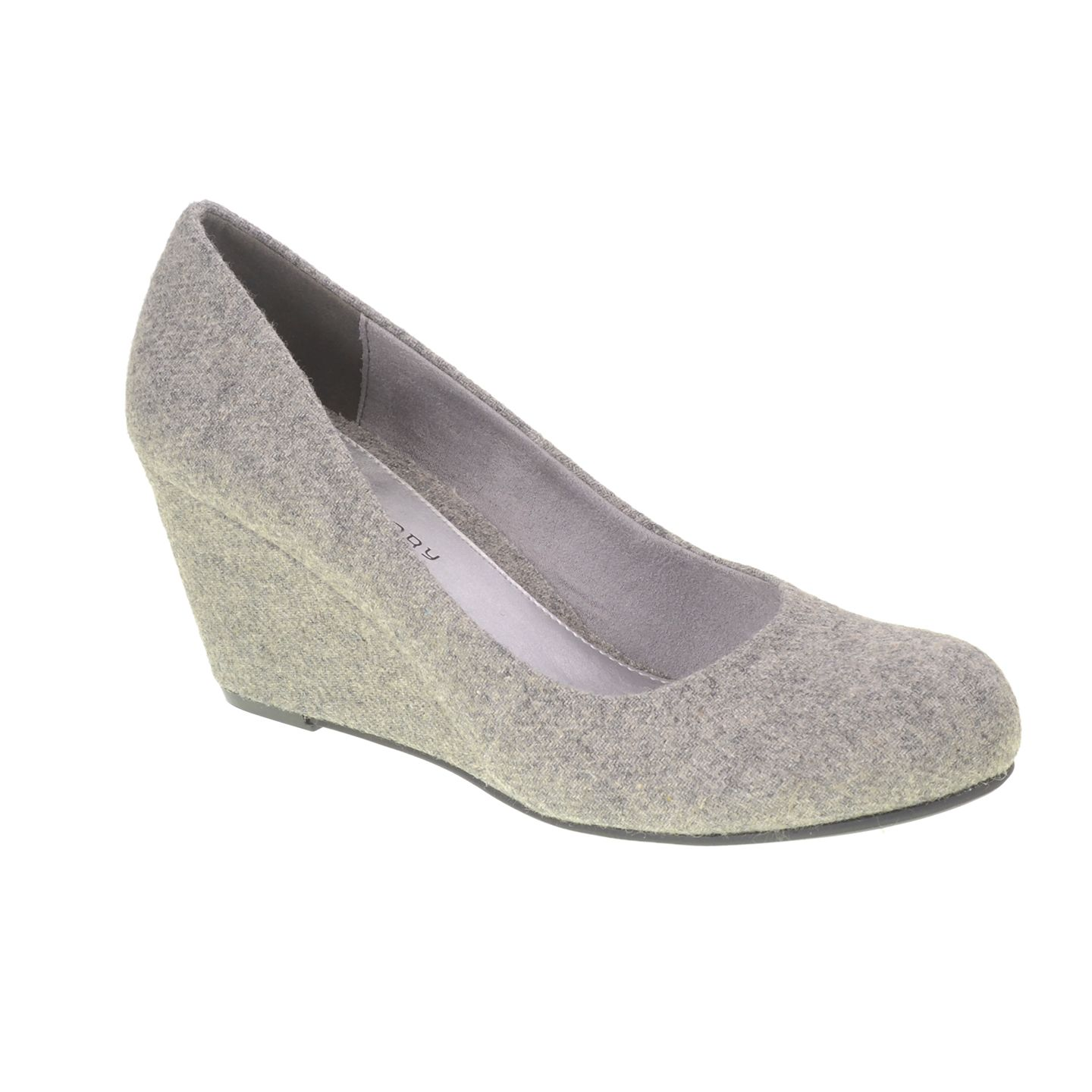 Cl By Laundry Nima Flannel Wedge Pump Grey Wedge Pumps Wedges
