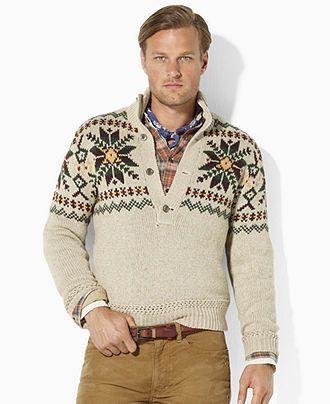 Polo Ralph Lauren Sweater Seasonal Print Mockneck Sweater Mens