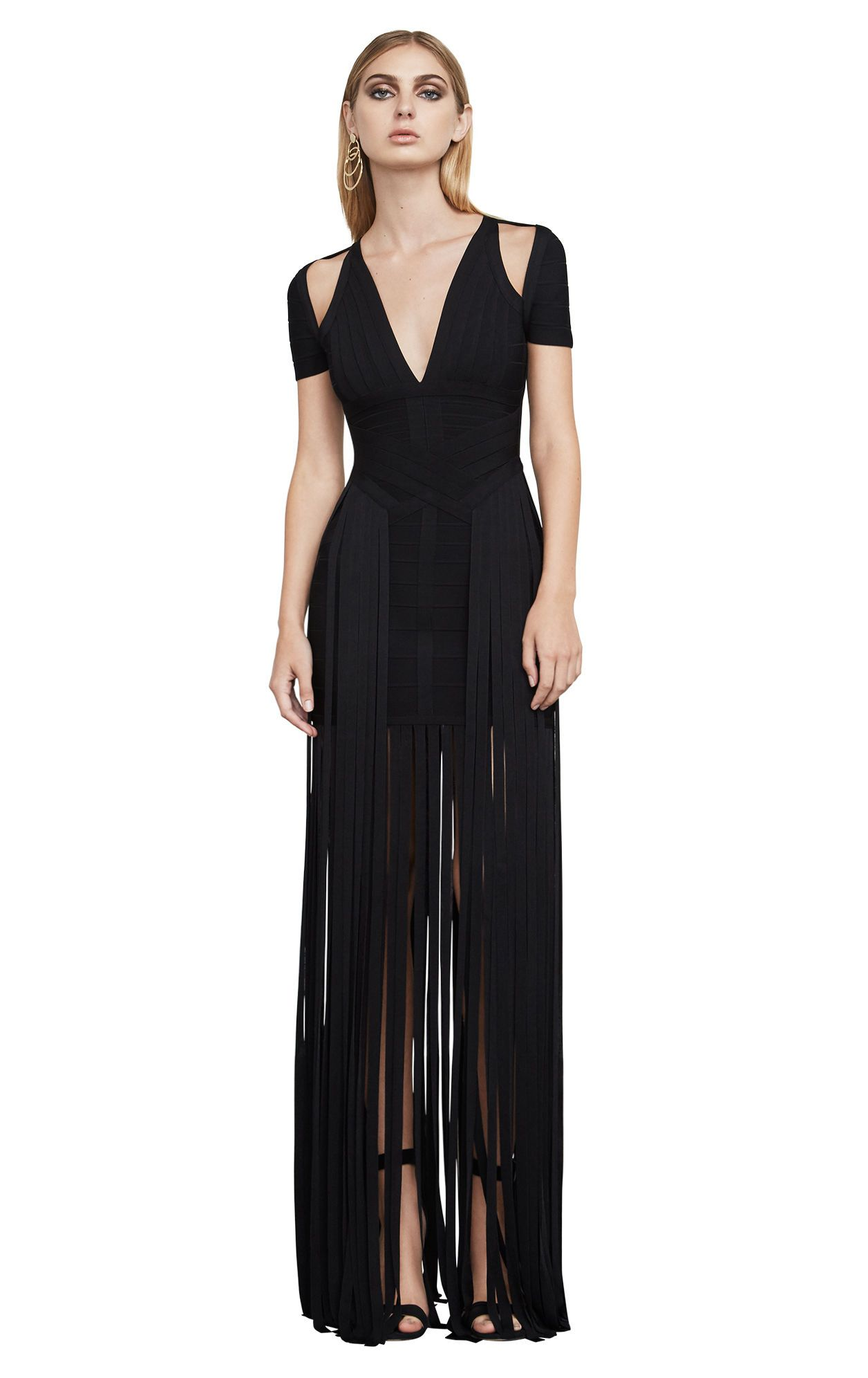 Geena Fringe Bandage Gown | DRESS | Pinterest | Gowns and Fashion