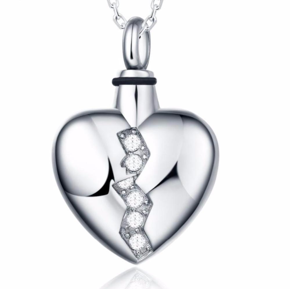 Broken Heart Urn Pendant For Cremation Ashes Urn Pendant Ashes Jewelry Urn Jewelry