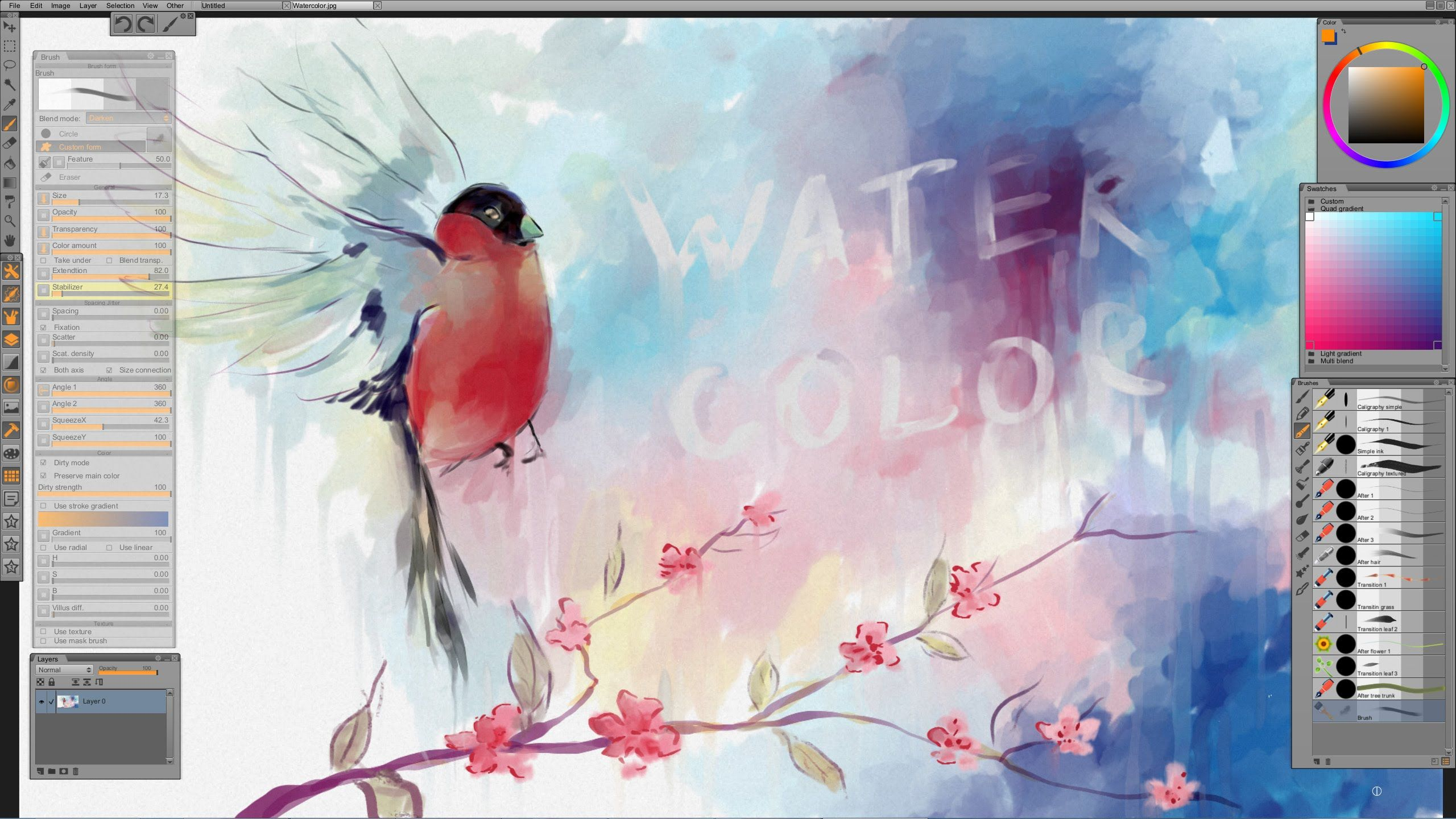 Watercolor Imitation In Paintstorm Studio Www Paintstormstudio