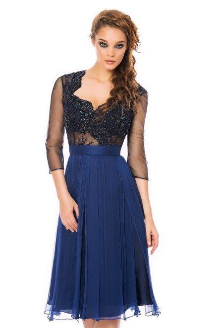 CRISTALLINI Cocktail Dress SKA278! A classic style cocktail dress updated with amazing embroidery details. #cristallini #cocktaildress #sales #dressesonsale #fashionaddict #onlineshopping #elegance #stylish #styleinspiration
