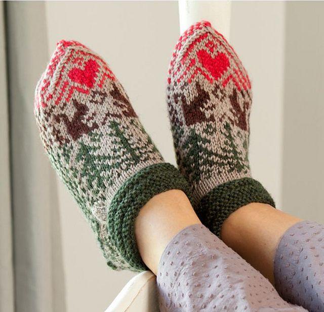 Knitting Scandinavian Slippers And Socks Knitted Slippers Pattern Slippers Pattern Knitted Slippers