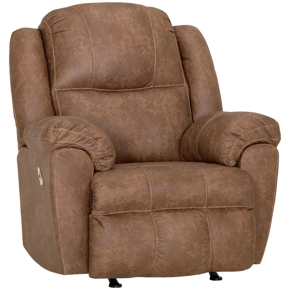 Rufford Tan Power Rocker Recliner Recliner Furniture Chair