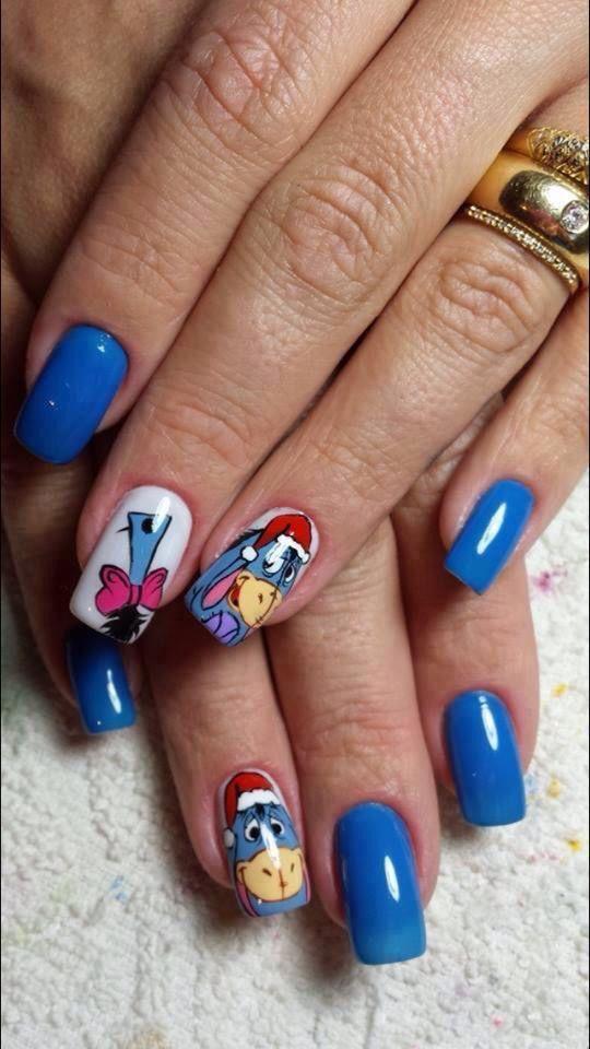 Eeyore Nail Design My Nails Pinterest Eeyore Disney Nails And