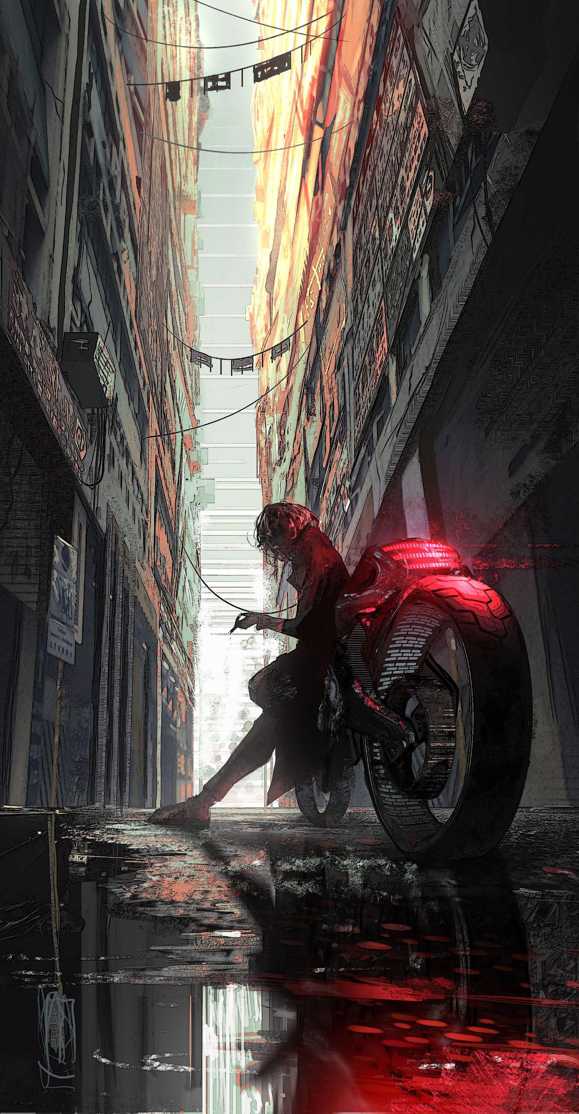 Artstation At Shifts End Rashed Alakroka Arte Cyberpunk