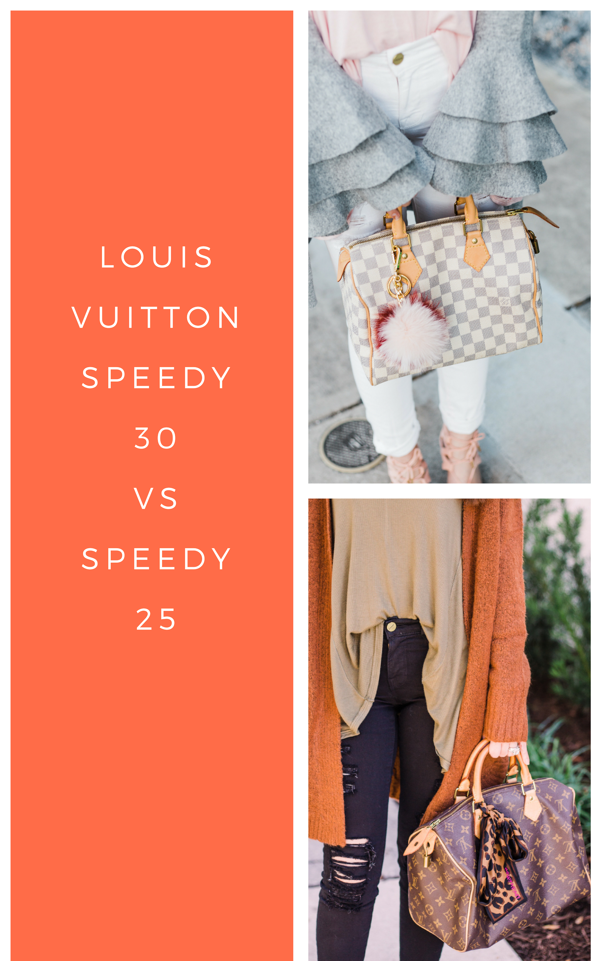 f4c3a745486a Louis Vuitton speedy 30 vs 25. Comparing the Louis Vuitton speedy 30 with the  Louis Vuitton speedy 25. Speedy monogram vs speedy damier azur and  everything ...