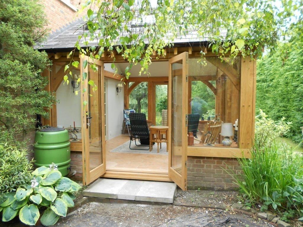 Oak summerhouse garden building extension | Очевидное- вероятное ...