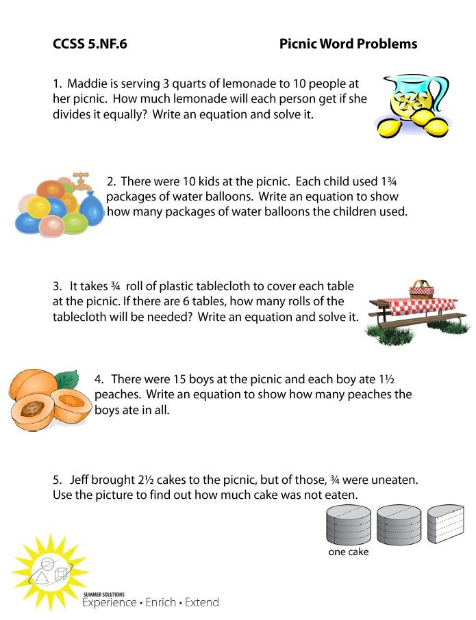 http://summersolutions.net/blog/plan-a-picnic/ 5th grade CCSS 5.NF ...
