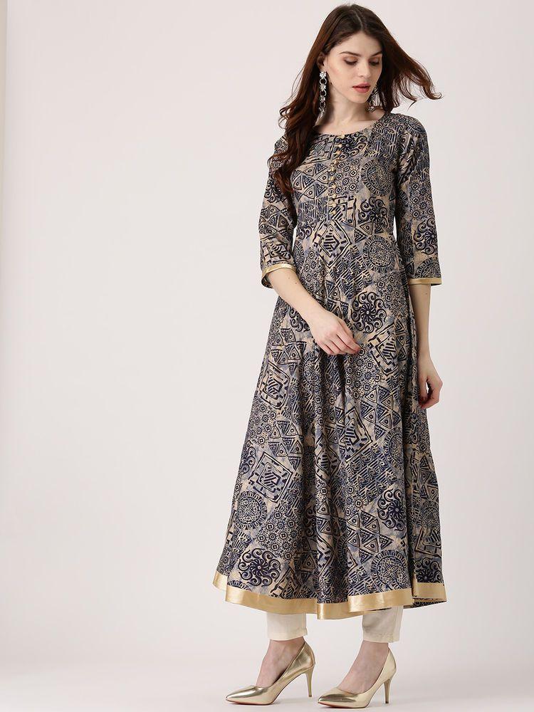 81ddb5713e3 ... Kurta Designer Women Ethnic Dress Top Tunic Grey Kurti  fashion   clothing  shoes  accessories  worldtraditionalclothing  indiapakistan (ebay  link)