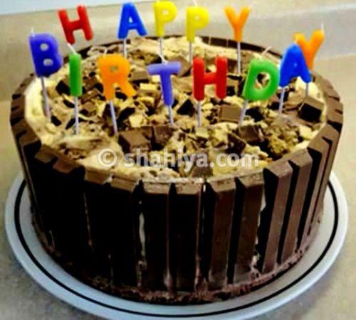 طريقة عمل كيكة الشوكولاته كيت كات بالصور مدونة شهية Chocolate Kit Kat Cake Kit Kat Cake Cake