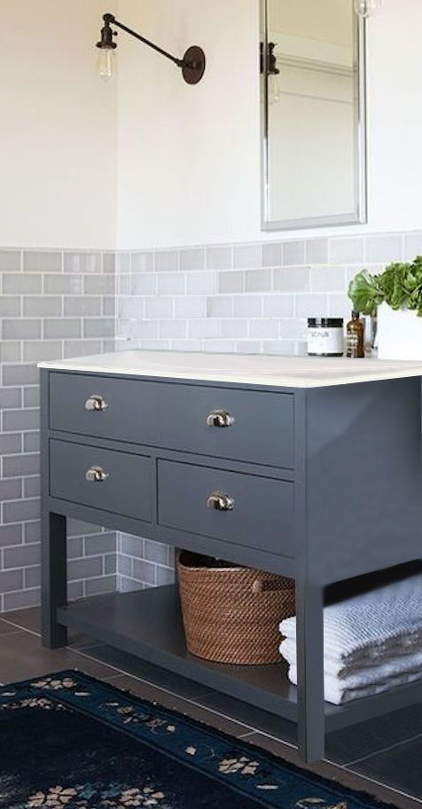 Painted Any Colour Vanity Washstand 80cm Wide Drawer Bathroom Cabinet Unit Ebay