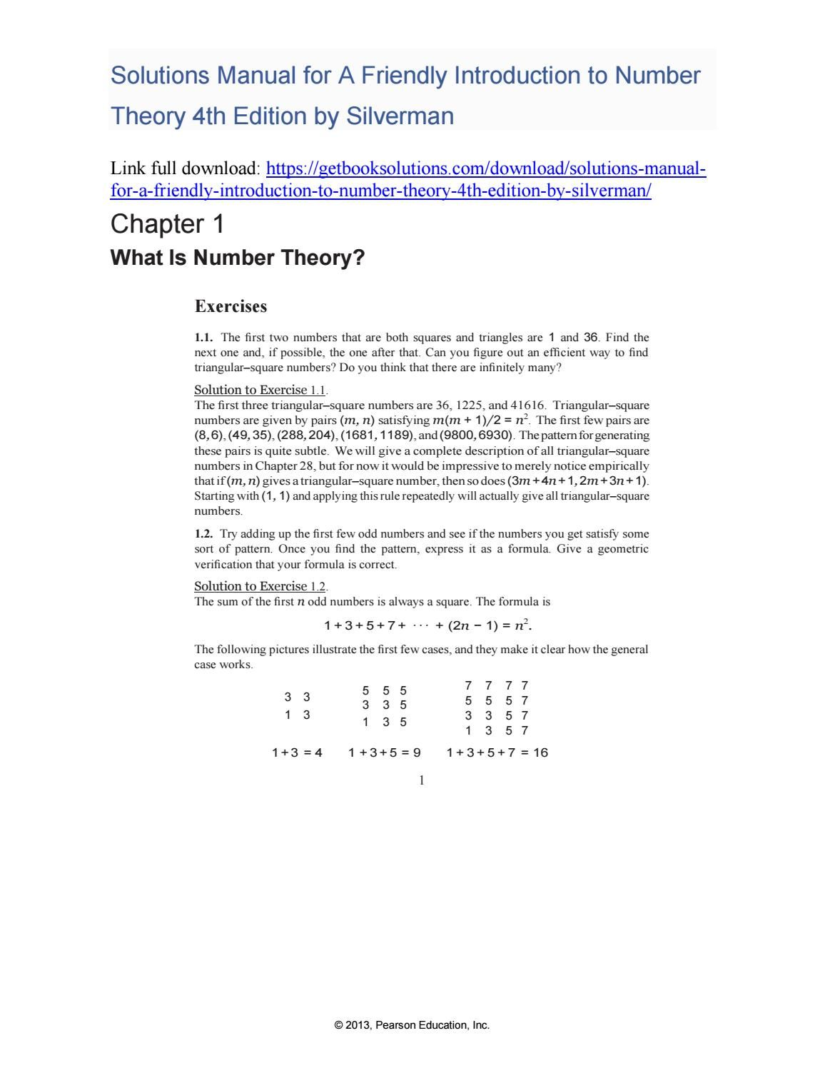 ... Array - solutions manual for a friendly introduction to number theory  4th rh pinterest com