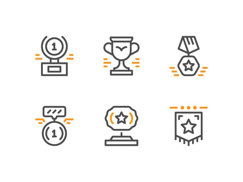 Award Icons Icon Design Inspiration Icon Design Logo Illustration Design